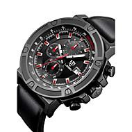 LIEBIG Муж. Модные часы Японский Кварцевый Календарь Секундомер Крупный циферблат PU Материал Группа Cool Повседневная Черный
