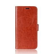 お買い得  携帯電話ケース-ケース 用途 Asus カードホルダー ウォレット スタンド付き フリップ 磁石バックル フルボディーケース 純色 ハード PUレザー のために Asus Zenfone 4 ZE554KL Asus Zenfone 4 MAX ZC554KL