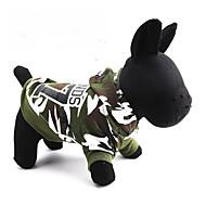 povoljno -Mačka Pas Hoodies Odjeća za psa Prozračnost kamuflaža Zelen Kostim Za kućne ljubimce