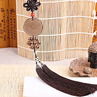 cheap Car Pendants & Ornaments-DIY Automotive Pendants  Chinese Style Obsidian Peace Symbol  Car Pendant & Ornaments Jade Crystal