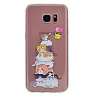 Case Kompatibilitás Samsung Galaxy S8 Plus S8 Minta Hátlap Cica Puha TPU mert S8 S8 Plus S7 edge S7 S6 edge S6