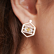 cheap Editor's Picks-Women's Drop Earrings - Stainless Steel, Gold Plated Unique Design, Bohemian, Euramerican Light Green / Watermelon Red And White / Blue + White For Anniversary / Birthday / Party Evening