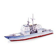 cheap Toys & Hobbies-3D Puzzles Jigsaw Puzzle Wood Model Model Building Kits Toys Warship Ship 3D DIY Wooden Wood Not Specified Pieces
