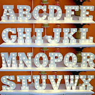 cheap LED Novelty Lights-1pc 26 Letters Alphabet LED Night Light Battery Powered Creative / Wedding / Decoration