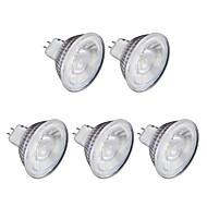 お買い得  LED スポットライト-5個 6W 1lm GU10 LEDスポットライト MR16 1 LEDビーズ COB 温白色 クールホワイト 220V