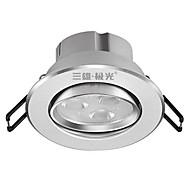 abordables Luces LED Empotradas-3 W lm 3 Cuentas LED Luces Empotradas Descendentes Blanco Cálido 220 V / 1 pieza / CE