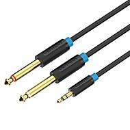 VENTION 3,5 mm Audio Jack Adapterkabel, 3,5 mm Audio Jack to 6.35mm Adapterkabel Male - Male Vergoldetes Kupfer 1.5M (5Ft)