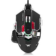 tanie Myszki-Walka z myszą do gier 4800 dpi optyczna usb przewodowa mysz zawodowa mysz programowalna 10 przycisków rgb oddychanie prowadzone myszy dla