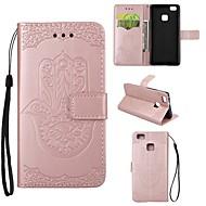 billige Mobilcovers-Taske til huawei p9 lite p8 lite taske dækker palme mønster pu læder tasker