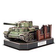 halpa Harrastukset-3D palapeli Palapeli Lelut Panssarivaunu 3D DIY Miehet Pojat Pieces