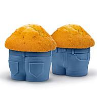 tanie Narzędzia kuchenne-1pc dżinsy muffin cup cake silikonowa czekoladowa forma bakeware kuchnia pieczenia puchar