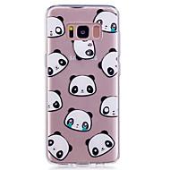 Кейс для samsung galaxy s8 s8 плюс кейс крышка панда рисунок окрашенный высокий проникающий тп материал imd процесс мягкий чехол телефон