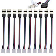 abordables Accesorios para Tiras LED-10pcs Accesorio de iluminación Cable eléctrico Interior