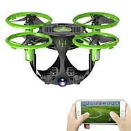 billige -RC Drone FQ777 FQ26 4 Kanal 6 Akse WIFI Med 0.3MP HD-kamera Fjernstyrt quadkopter Høyde Holding Fremover bakover WIFI FPV LED-belysning