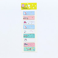 preiswerte Schreibwaren-1 Stück Eule Serie Selbstklebe-Notiz-Set (zufällige Farbe) für Schule / Büro