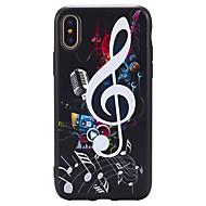 Недорогие Кейсы для iPhone 8 Plus-Назначение iPhone X iPhone 8 Plus Чехлы панели Рельефный С узором Задняя крышка Кейс для Панк Мягкий Термопластик для Apple iPhone X