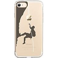 Назначение iPhone X iPhone 8 Чехлы панели Ультратонкий Прозрачный С узором Задняя крышка Кейс для Композиция с логотипом Apple Мягкий