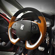 cheap Steering Wheel Covers-Steering Wheel Covers 38cm Black / Brown / Black / Red For Citroen DS6 / DS5LS All years