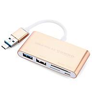 5 Porte USB Hub USB 2.0 USB 3.0 Micro USB 2.0 Med Kortlæser (e) Ultra Slim OTG Data Hub