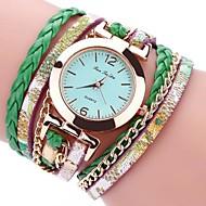 Heren Dames Sporthorloge Militair horloge Chinees Kwarts Chronograaf Waterbestendig PU Band Vintage Creatief Informeel Elegant Zwart Wit
