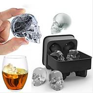 schedel vorm 3d ijsblokje schimmel maker bar partij siliconen trays chocolade schimmel cadeau
