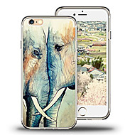 Недорогие Кейсы для iPhone 8 Plus-Кейс для Назначение Apple iPhone X iPhone 8 Ультратонкий С узором Кейс на заднюю панель Слон Мягкий ТПУ для iPhone X iPhone 8 Pluss