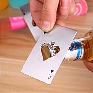 1 stück poker form edelstahl flaschenöffner soda bier kappe bar werkzeuge