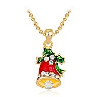 Γυναικεία Παιδικό Κρεμαστά Κολιέ Στρας Κράμα Μοντέρνα Chrismas Κοσμήματα Για Χριστούγεννα Πρωτοχρονιά