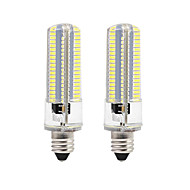BRELONG Dimmable E11 E12 E14 E17 8W 152x3014SMD 3000-3500K/6000-6500K Warm White/White Light LED Corn Bulb AC110V/220V 2PCS