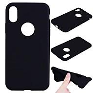 Назначение iPhone X iPhone 8 Чехлы панели Матовое Задняя крышка Кейс для Сплошной цвет Мягкий Термопластик для Apple iPhone X iPhone 8