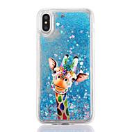Назначение iPhone X iPhone 8 Чехлы панели Движущаяся жидкость Прозрачный С узором Задняя крышка Кейс для Мультипликация Твердый пластик
