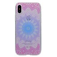 Назначение iPhone X iPhone 8 iPhone 8 Plus Чехлы панели Прозрачный С узором Задняя крышка Кейс для Мандала Мягкий Термопластик для Apple