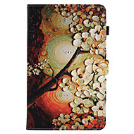 For Case Cover Card Holder Wallet with Stand Flip Magnetic Pattern Full Body Case Flower Hard PU Leather for Samsung Galaxy Tab E 9.6 Tab