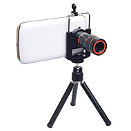 Mobile Phone Lens Long Focal Lens Aluminium Alloy 8X 21 Lens with Stand