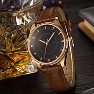 YAZOLE Муж. Модные часы Наручные часы Уникальный творческий часы Кварцевый PU Группа Cool Повседневная Люкс Элегантные часы Черный