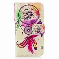 olcso Galaxy J7(2016) tokok-Case Kompatibilitás Samsung Galaxy J7 (2017) J3 (2017) Kártyatartó Pénztárca Flip Mágneses Minta Héjtok Álomfogó Kemény PU bőr mert J7