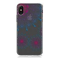 Назначение iPhone X iPhone 8 iPhone 8 Plus Чехлы панели Ультратонкий Прозрачный С узором Задняя крышка Кейс для Мандала Кружева Печать