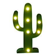 povoljno -brelong 3d topla bijela djeca soba ukras noćno svjetlo svjetlo vjenčanje dekorativno svjetlo - kaktus