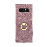 cheap Galaxy Note Series Cases / Covers-Case For Samsung Galaxy Note 8 Note 5 Ring Holder Back Cover Glitter Shine Soft TPU for Note 8 Note 5 Note 4 Note 3