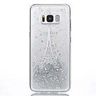 Недорогие Чехлы и кейсы для Galaxy S7-Кейс для Назначение SSamsung Galaxy S8 Plus S8 С узором Своими руками Задняя крышка Эйфелева башня Сияние и блеск Мягкий TPU для S8 S8