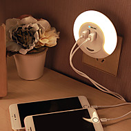 abordables Luces de Regalo-BRELONG® 1 pieza Enchufe de pared Blanco Recargable Control de luz Fácil de Transportar