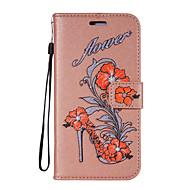 для чехлов чехол карта держатель кошелек с подставкой флип-паттерн полный корпус чехол цветок блеск блеск твердый кожа pu для samsung