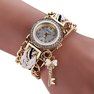 Dame Modeur Armbåndsur Simuleret Diamant Ur Kinesisk Quartz Imiteret Diamant Legering Stof Bånd Bohemisk Charm Armbånd Afslappet Elegante