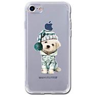 Назначение iPhone 7 iPhone 7 Plus Чехлы панели Прозрачный С узором Задняя крышка Кейс для С собакой Животное Мультипликация Мягкий