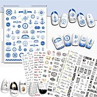 1 Nail Art matrica Mintás Modni dodaci Art Deco / Retro 3D Rajzfilm Csináld magad kiegészítők Matrica smink Kozmetika Nail Art Design
