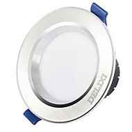 1pc 5w led downlight celing light dimbaar warm geel warm wit / wit ac220v 3000/4000 / 6500k maat gat 100mm