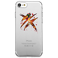 Недорогие Кейсы для iPhone 8 Plus-Кейс для Назначение Apple iPhone X iPhone 8 Прозрачный С узором Кейс на заднюю панель Halloween Мультипликация Мягкий ТПУ для iPhone X
