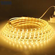 halpa LED-valonauhat-18m / 1kpl 220v 5050 johti joustava nauha köysi nauhat valo talvi ulkona vedenpitävä puutarha ulkona lightingeu plug eu