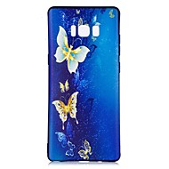 Кейс для Назначение SSamsung Galaxy Note 8 С узором Задняя крышка Бабочка Мягкий TPU для Note 8
