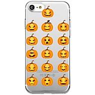Назначение iPhone X iPhone 8 Чехлы панели Прозрачный С узором Задняя крышка Кейс для Мультипликация Halloween Мягкий Термопластик для